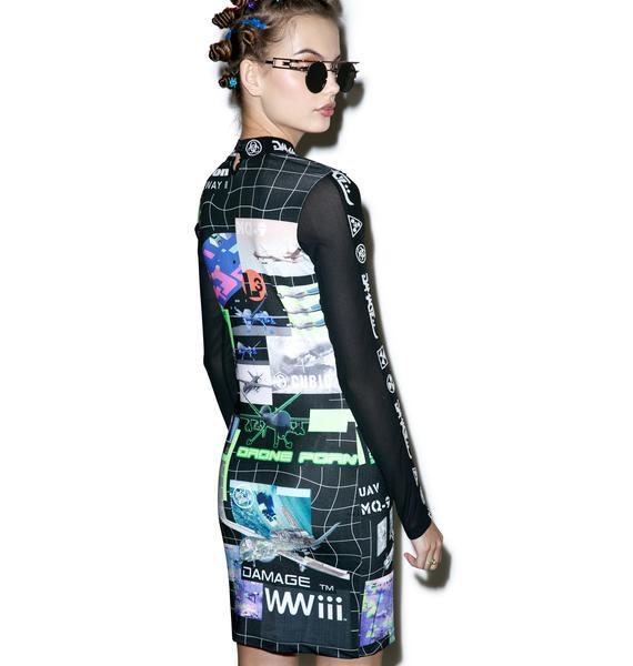 DAMAGE DronePorn Midi Dress