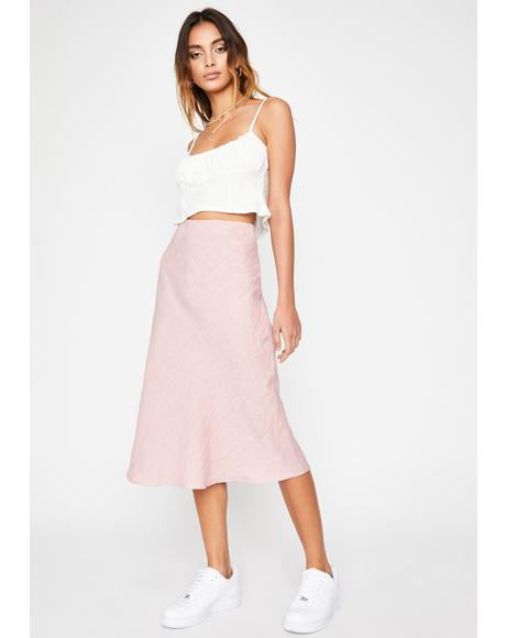 Rose Water Midi Skirt