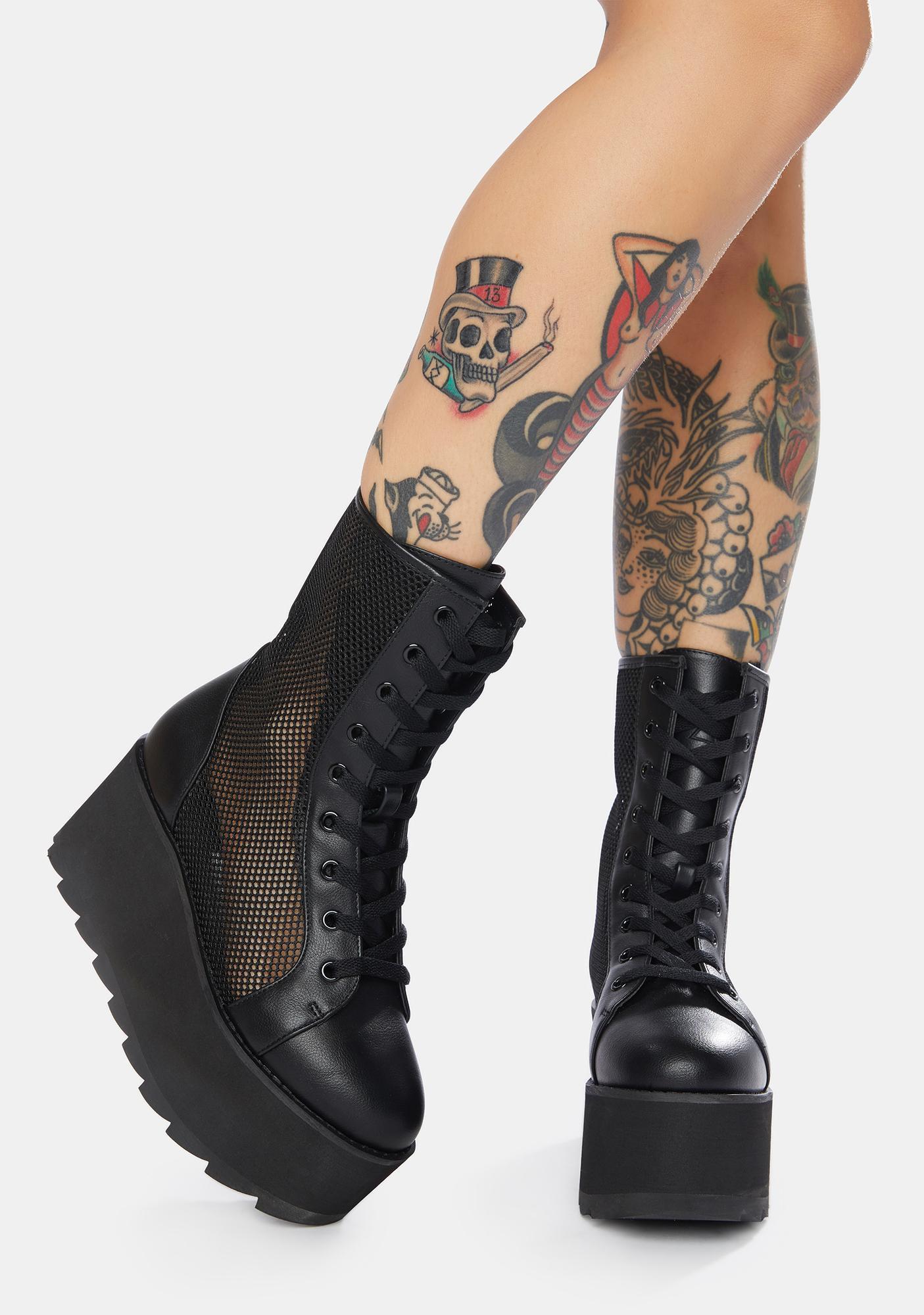 Y.R.U. Bloq Mesh Platform Boots