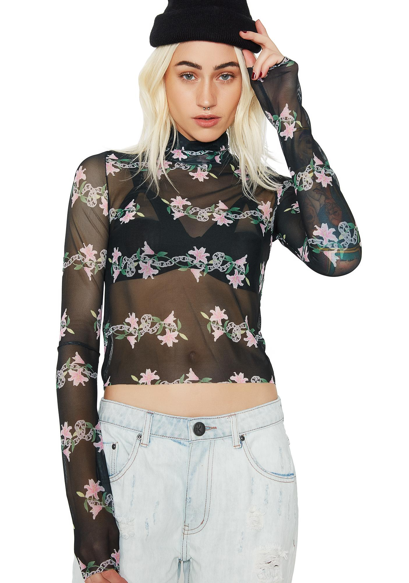 Stuck on Stupid Lily And Chain Printed Top