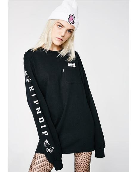 Dark Lord Nermal Pocket Long Sleeve