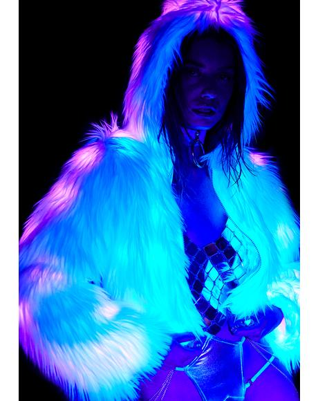 Royal Sugar Light Up Faux Fur Jacket