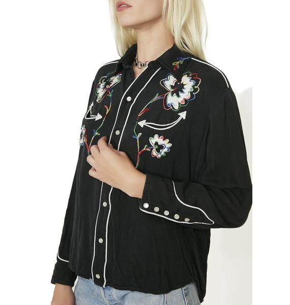 H Bar C Western Rainbow Embroidery Shirt