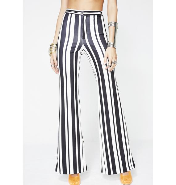 Midnight Funkytown Striped Pants