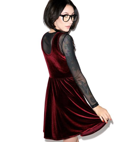 United Couture Basic Bye Velvet Dress