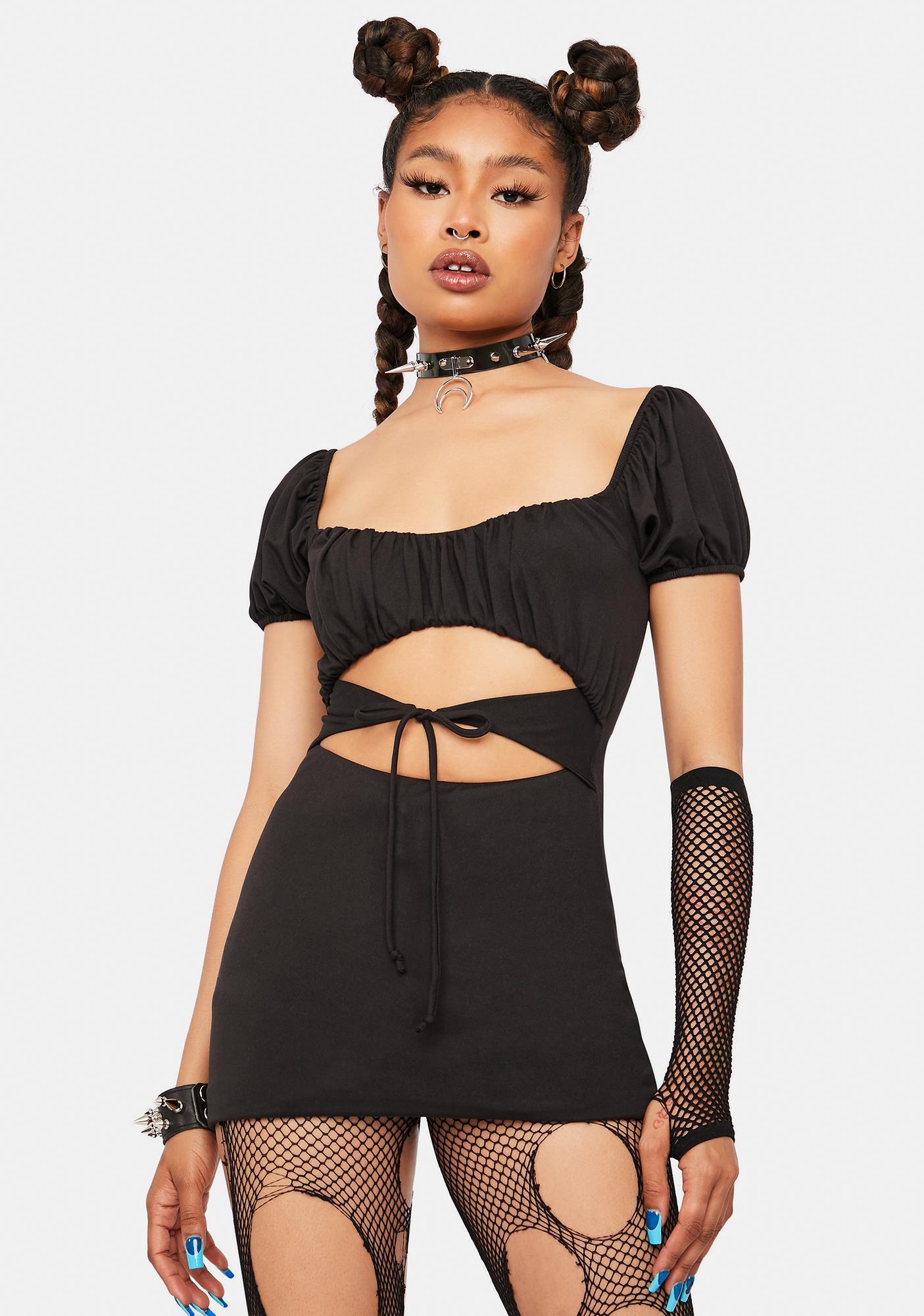 Slick Hometown Honey Cutout Mini Dress