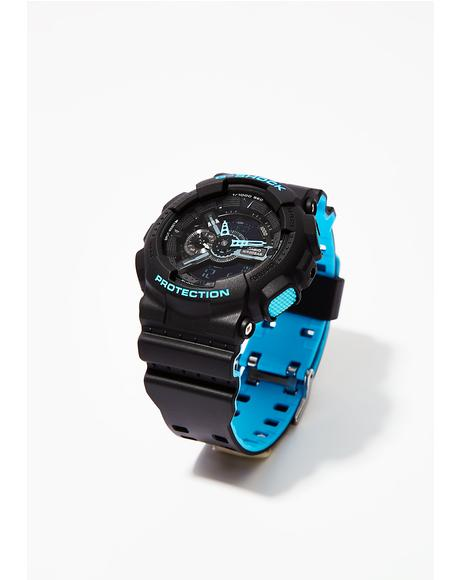 Black With Blue Watch