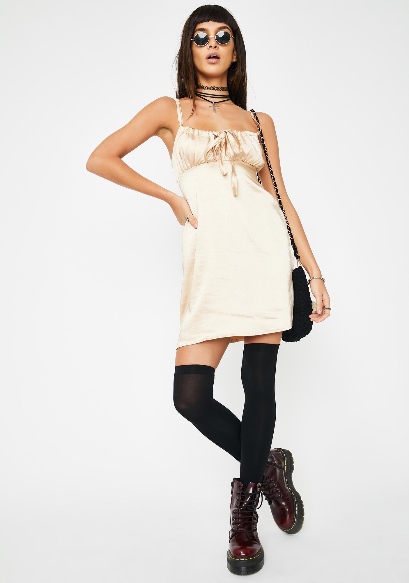 Motel Champagne Kamalia Mini Dress