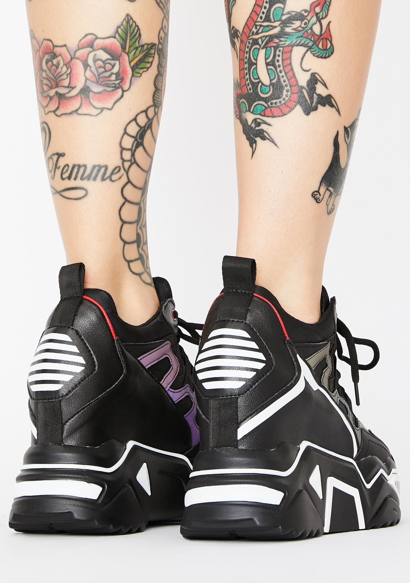 Anthony Wang Noir Stop Look N' Glisten Platform Sneakers
