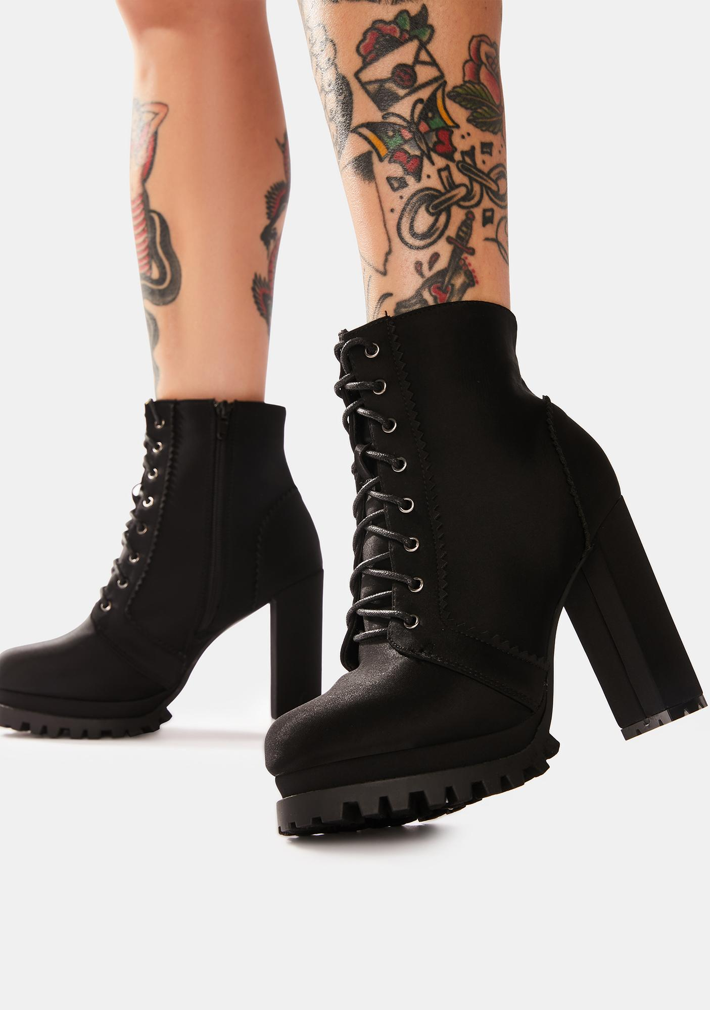 Midnight The Cool Crowd Heeled Ankle Boots
