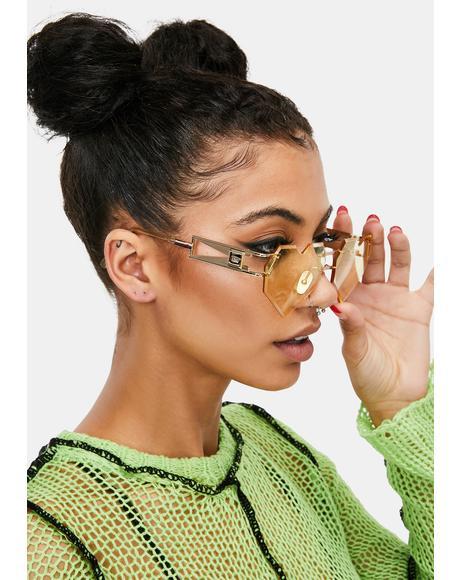 Gold Heart Speqz II Sunglasses