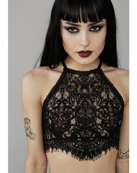 Haunted Harlow Halter Bra