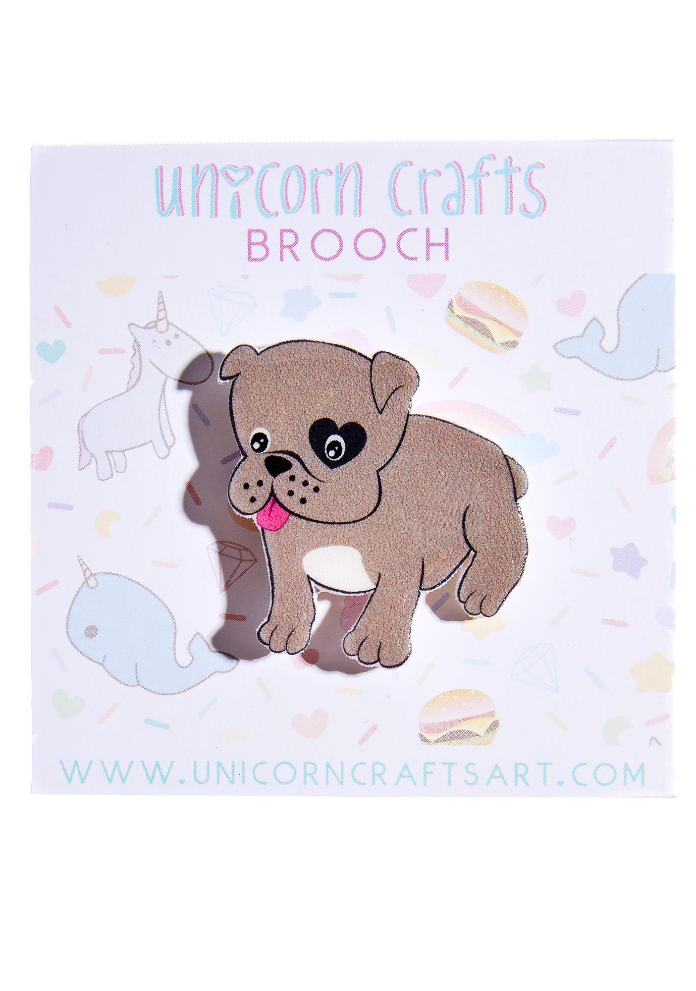 Unicorn Crafts Bulldog Brooch