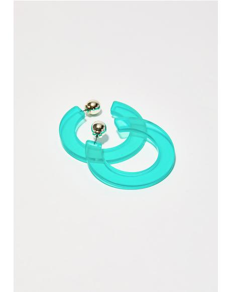 Dank Out Of Sight Hoop Earrings