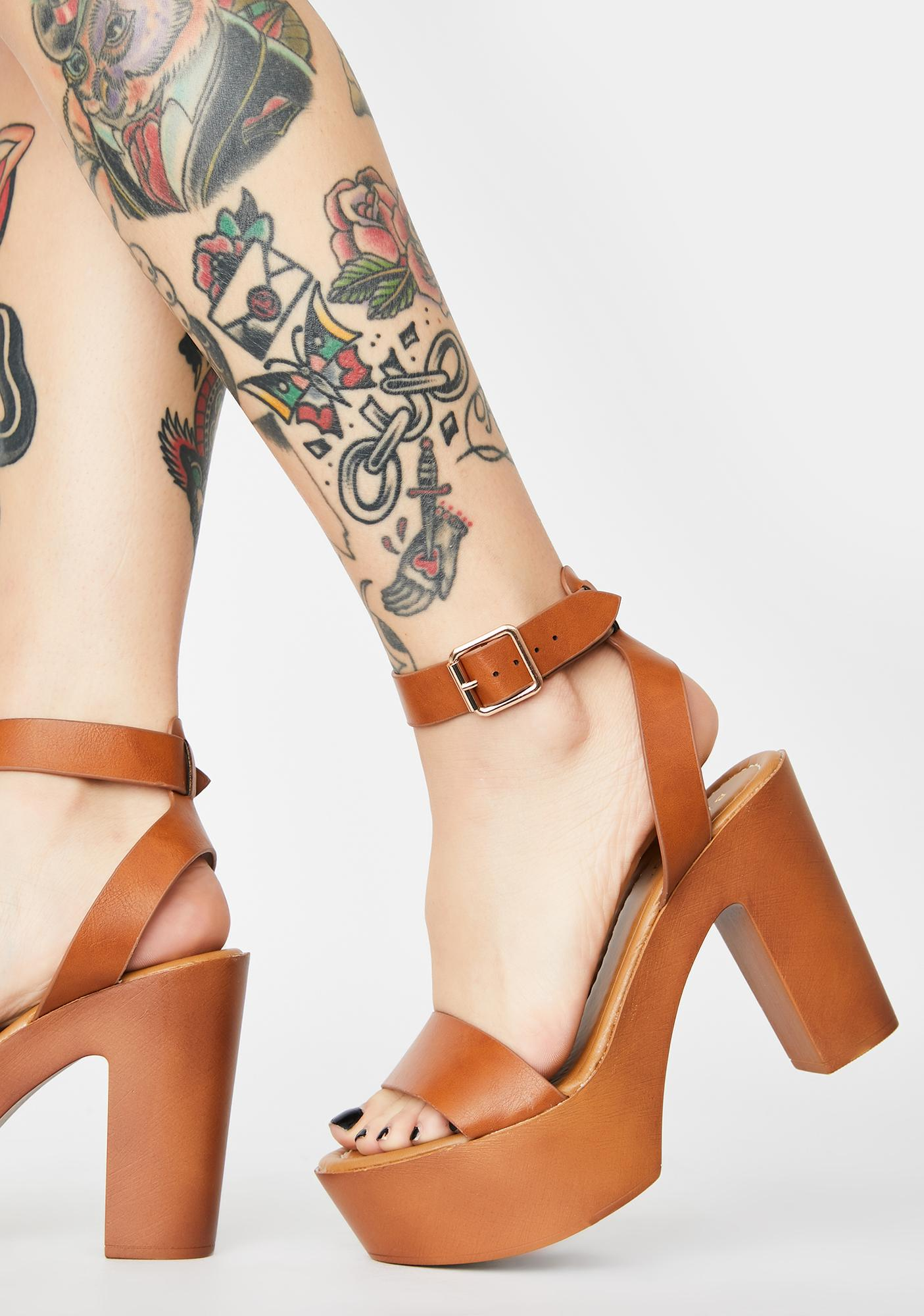 Beach Take The Lead Platform Heels