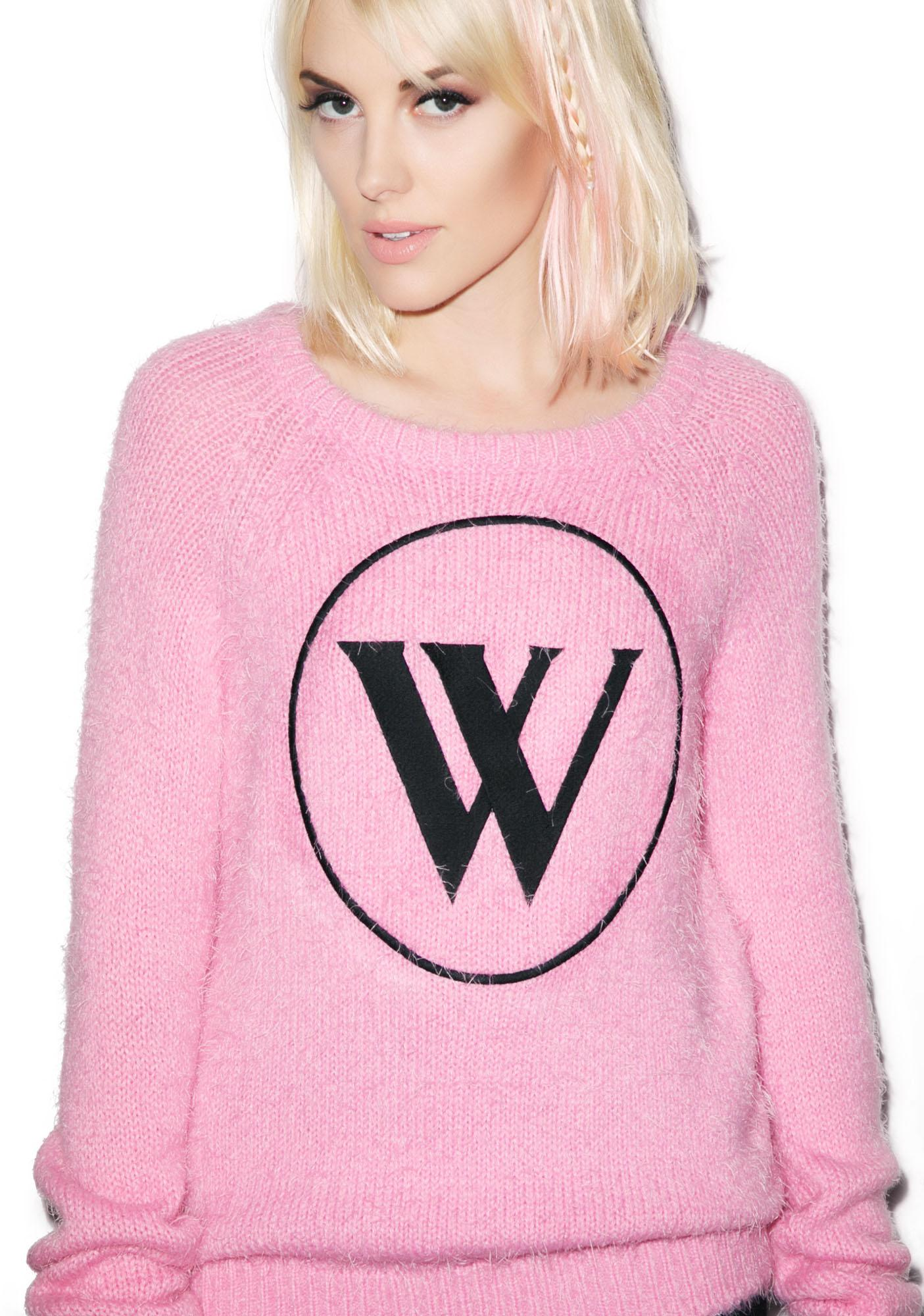 Wildfox Couture Logo Party Sweater