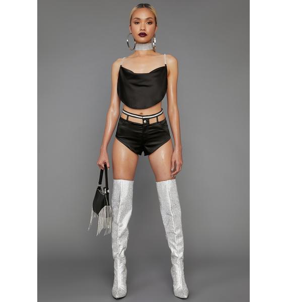 Poster Grl Diamond Dancing Cutout Shorts