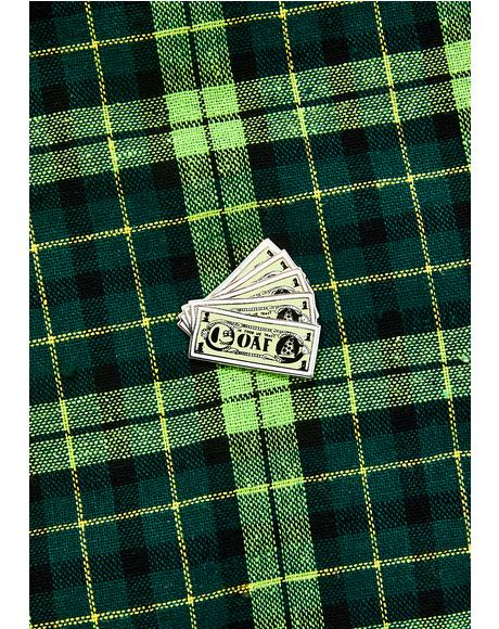 Money Pin Badge