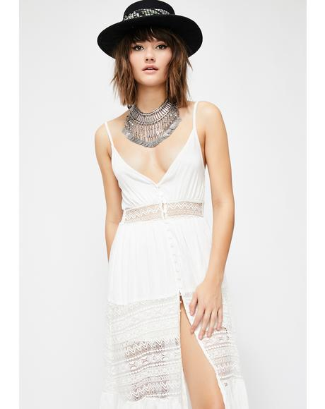 Wanderlust Soul Lace Midi Dress