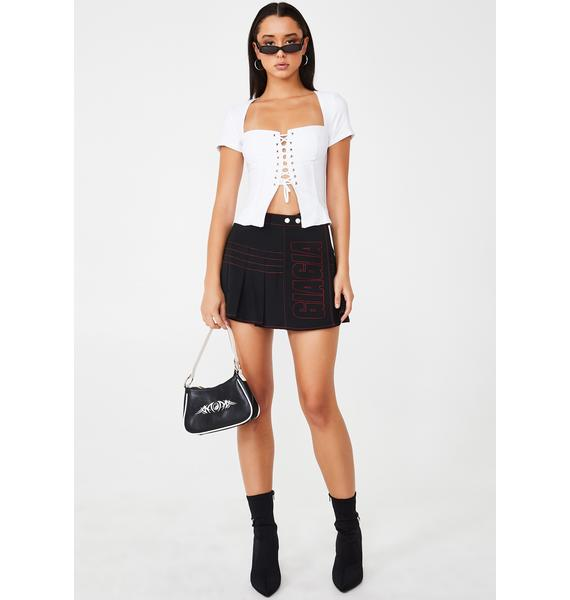 I AM GIA Evita Lace Up Top