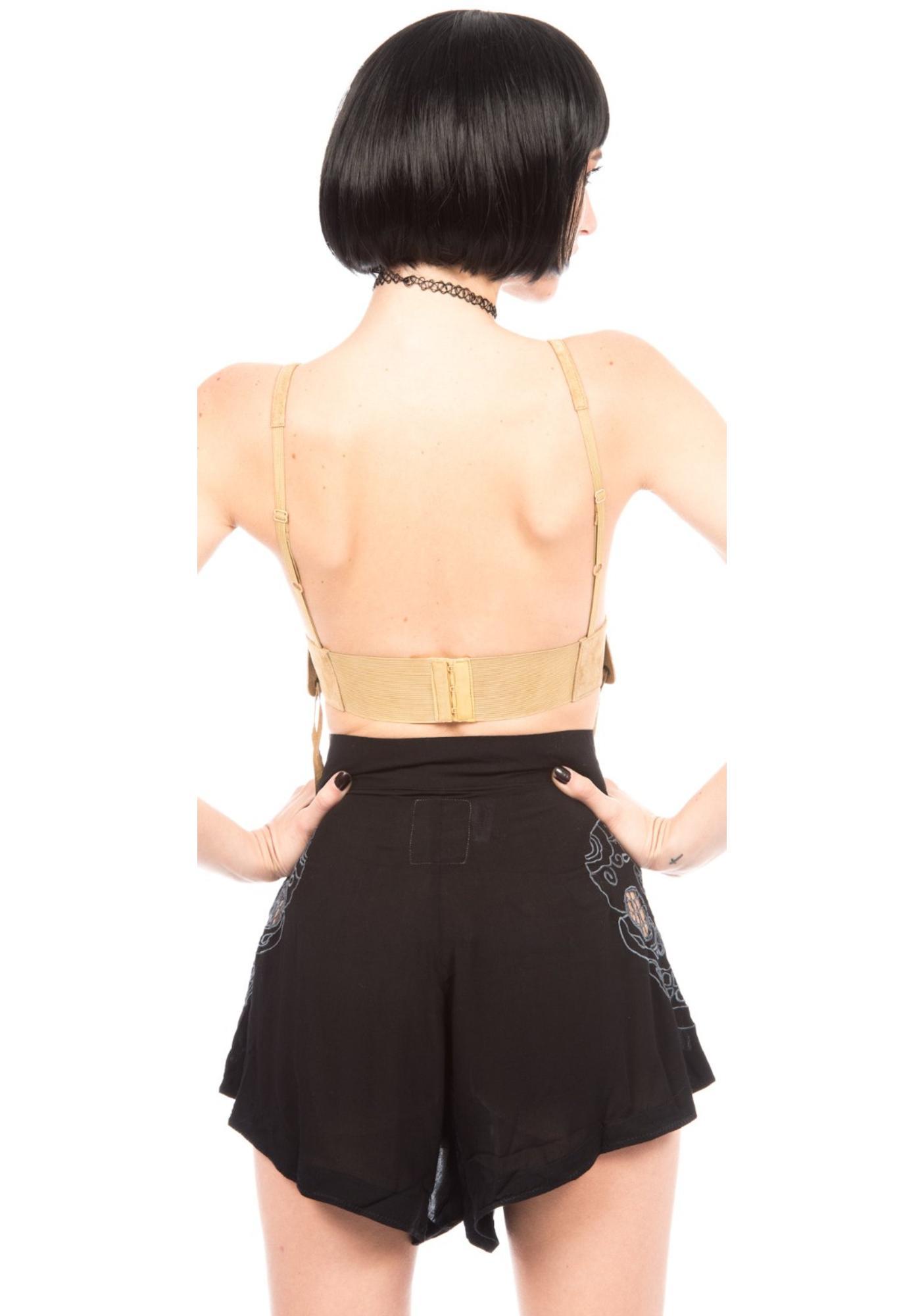 One Teaspoon Bone Yard Lace Shorts