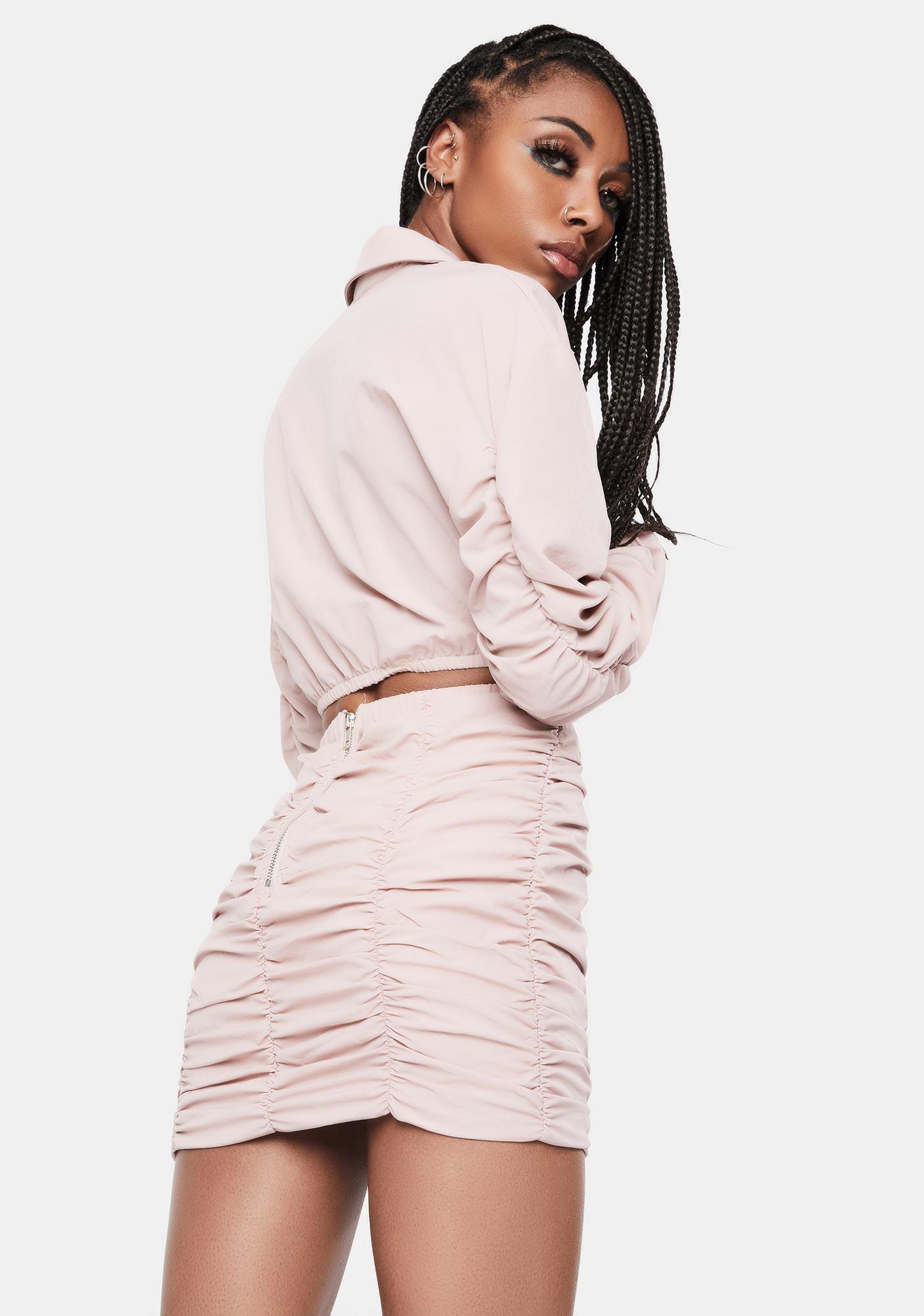 Baby Feel Free Crop Top Skirt Set