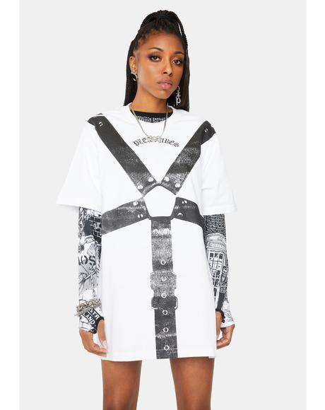 White Harness Graphic Tee