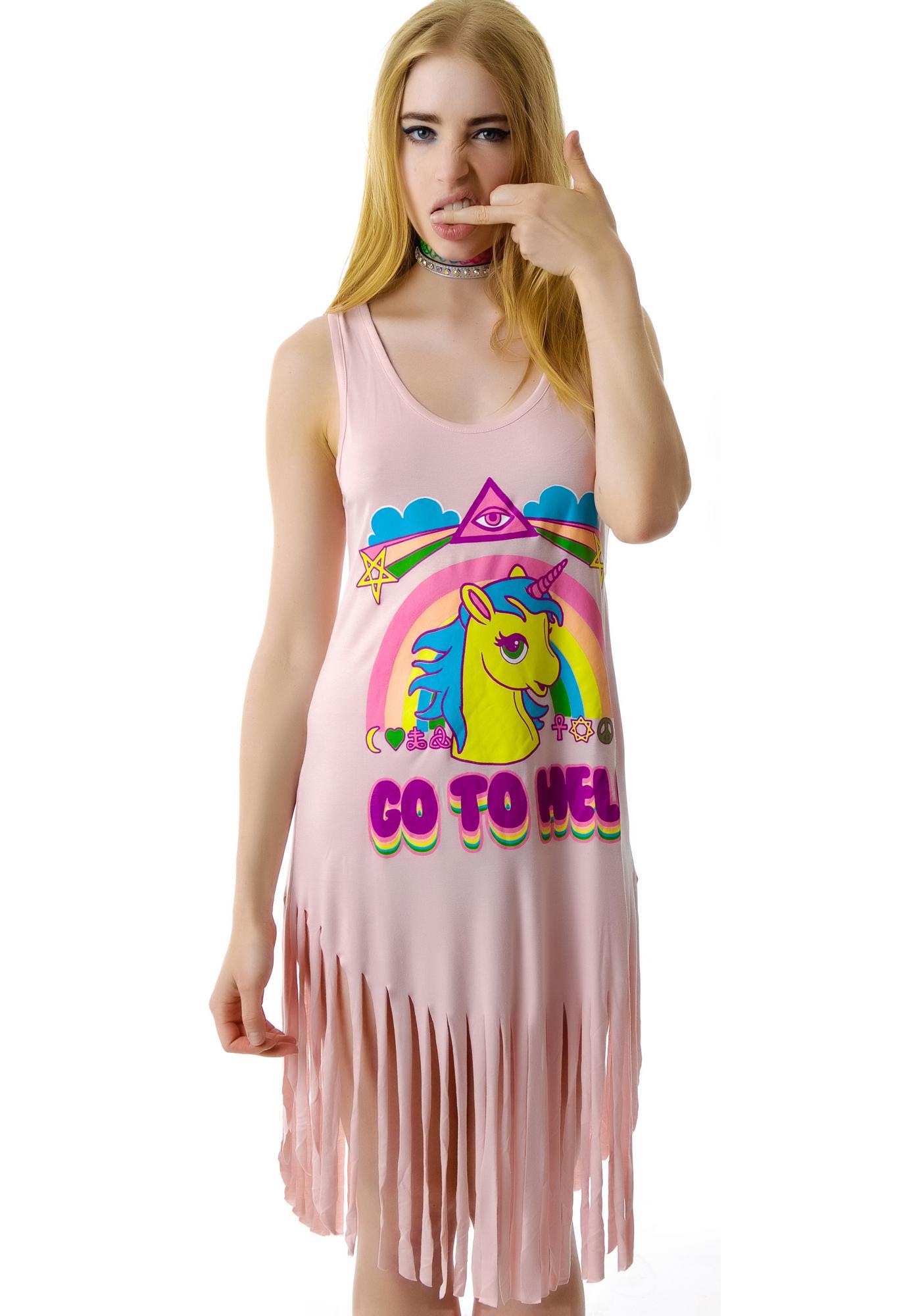 Killstar Go To Hell Fringe Dress