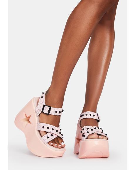Star Siren Platform Sandals