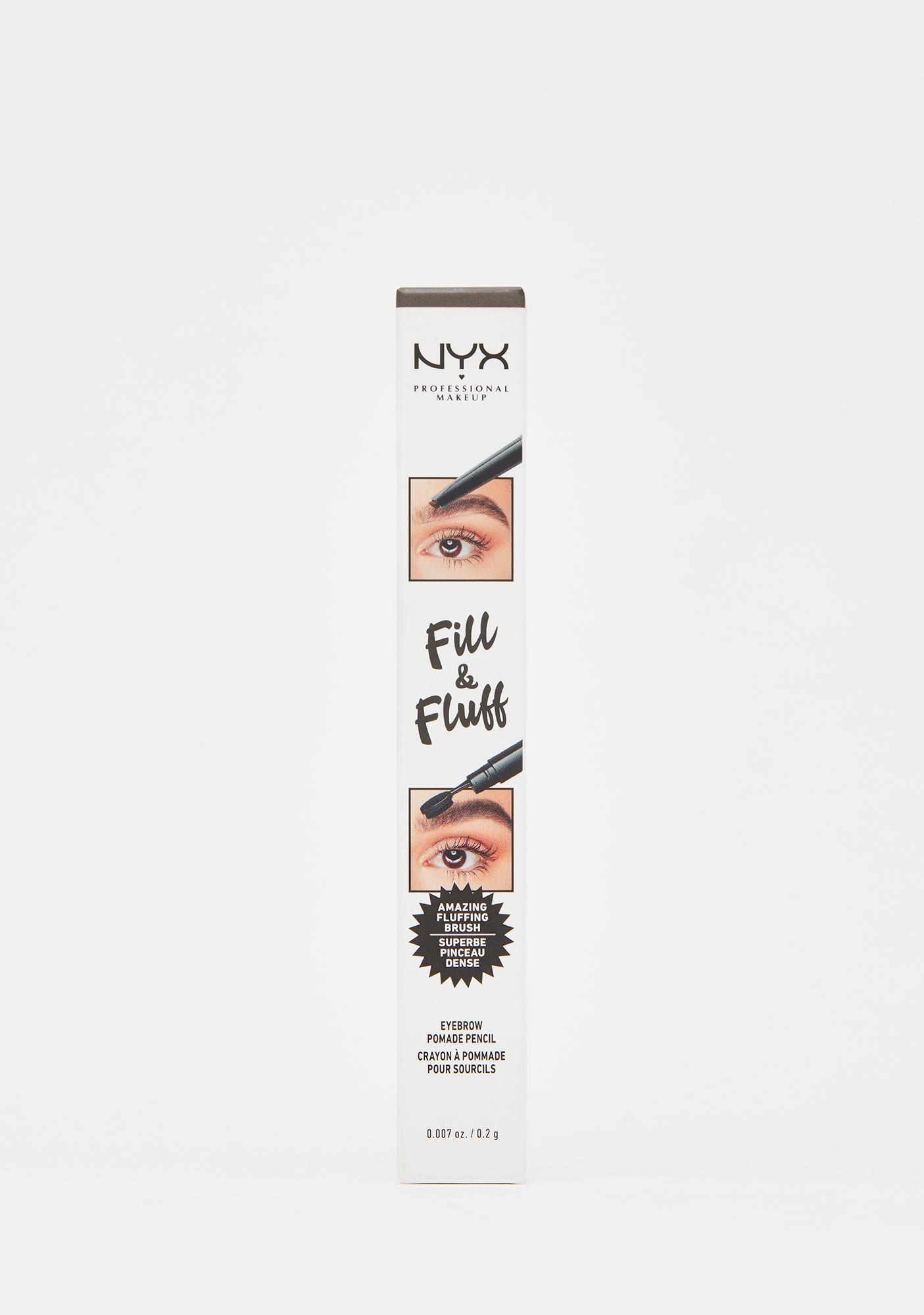 NYX Professional Makeup Ash Brown Fill & Fluff Eyebrow Pomade Pencil
