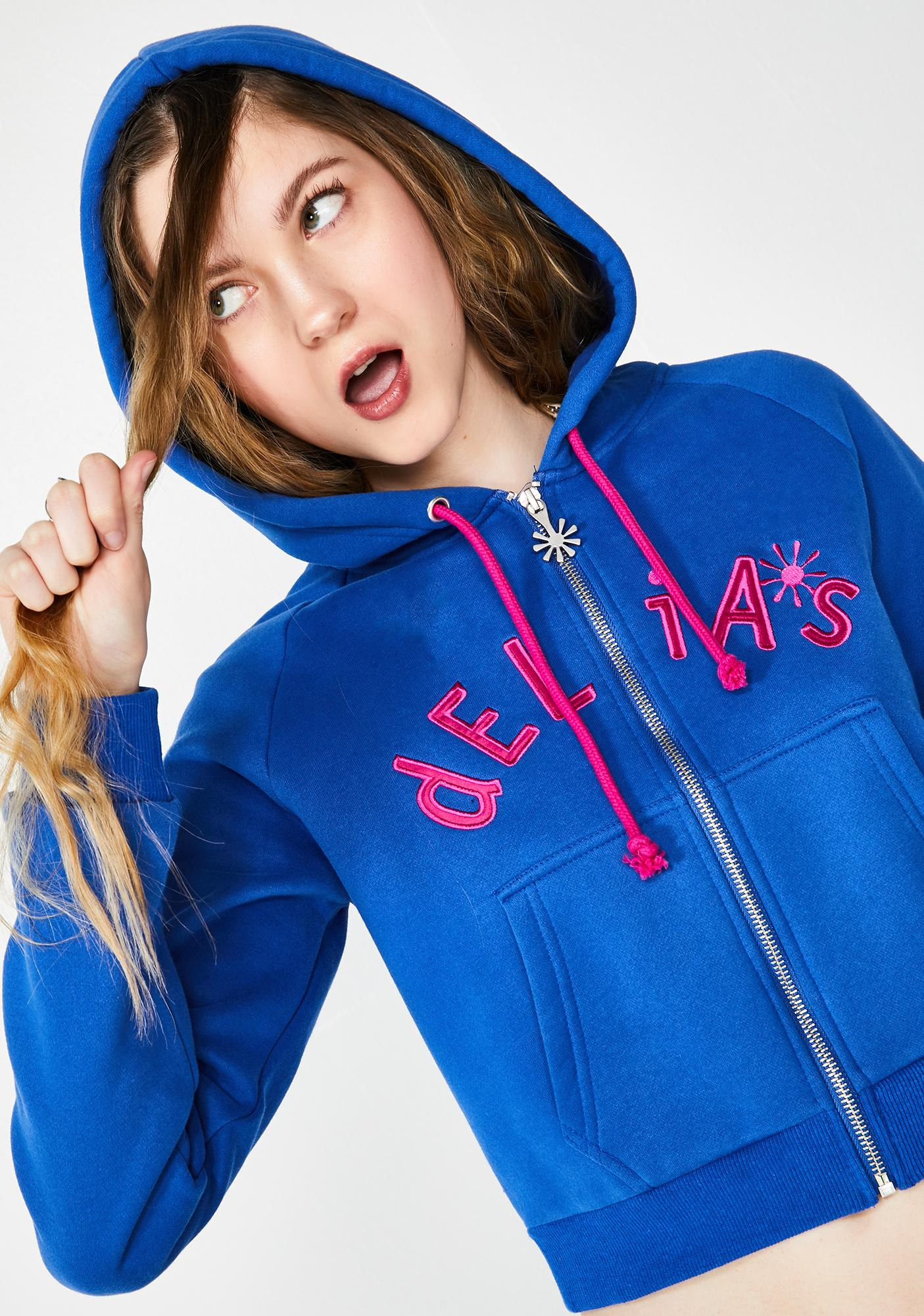 dELiA*s by Dolls Kill Cute Clique Embroidered Hoodie