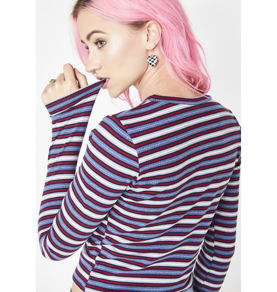 Yay Area Striped Top