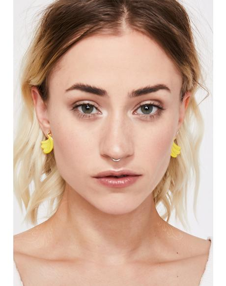 Peel Good Banana Earrings