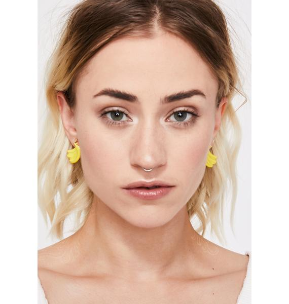 Peel Good Banana Earrings