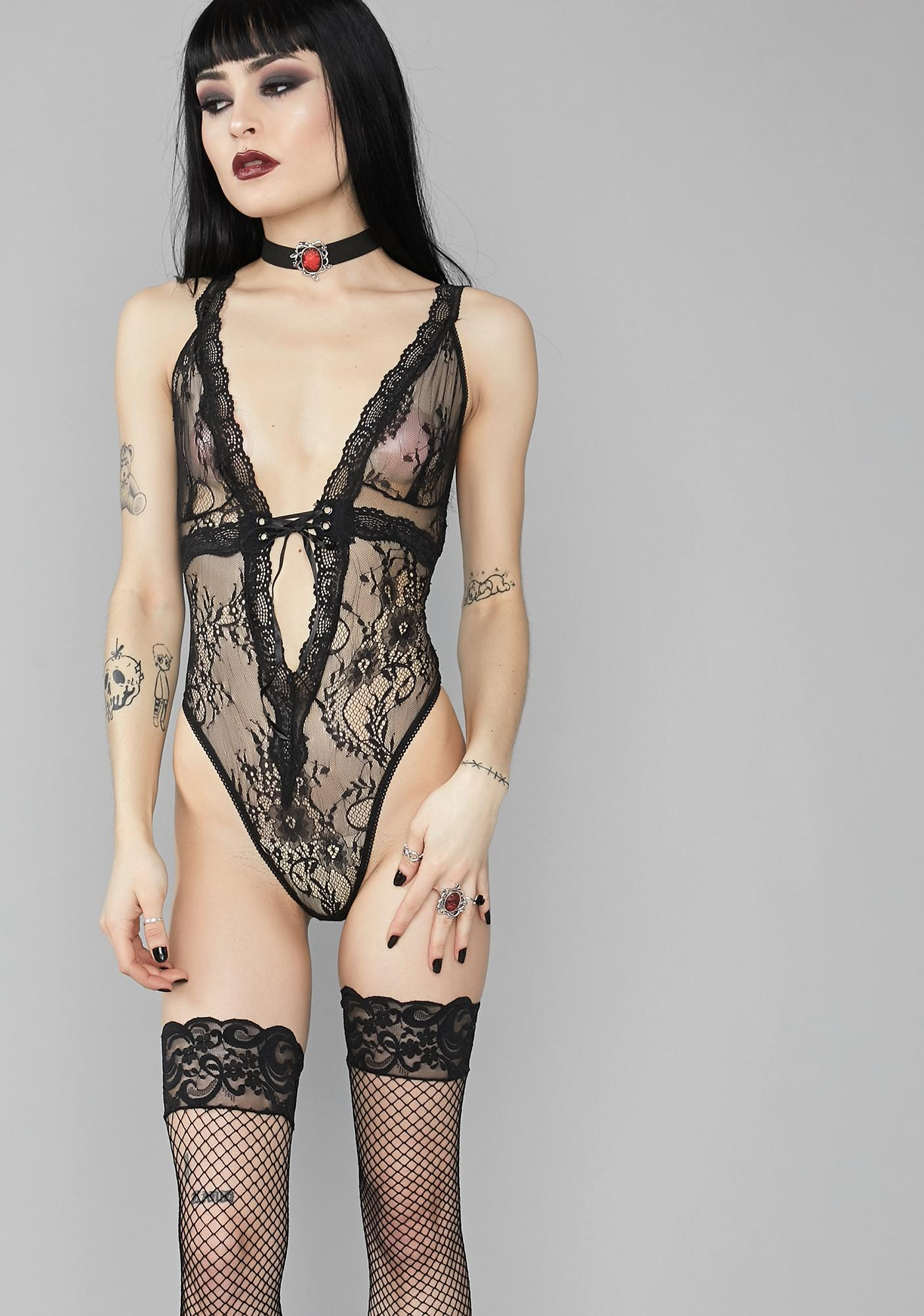 Widow Token Of Affection Lace Bodysuit
