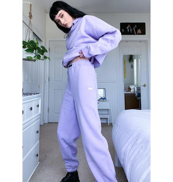 Criminal Damage Purple Toggle Sweatpants