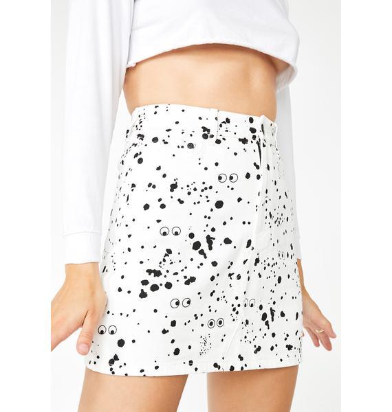 Lazy Oaf X Studio Arhoj Mini Splatter Print Skirt