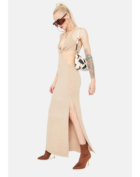 After All This Time Cutout Maxi Dress