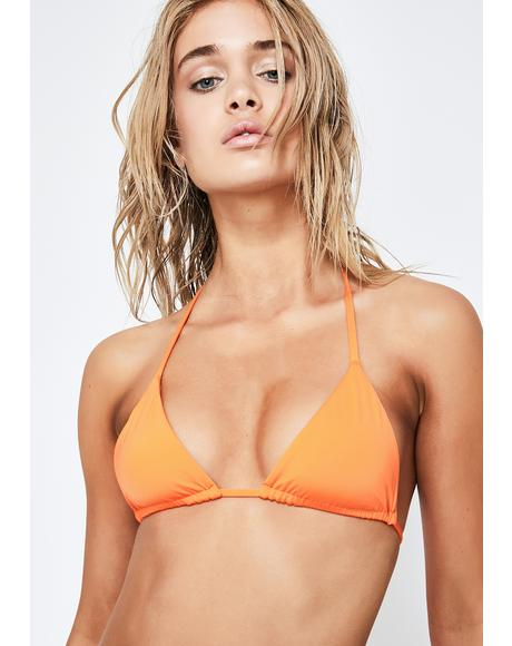 Orange Nick Bikini Top