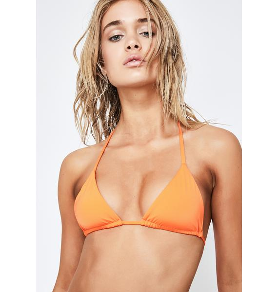 Frankies Bikinis Orange Nick Bikini Top