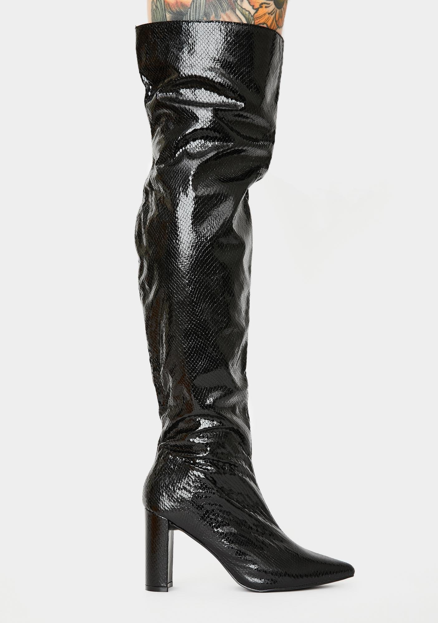 Public Desire Scorch Over The Knee Boots
