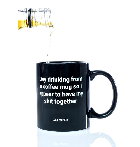 Jac Vanek Day Drinking Coffee Mug