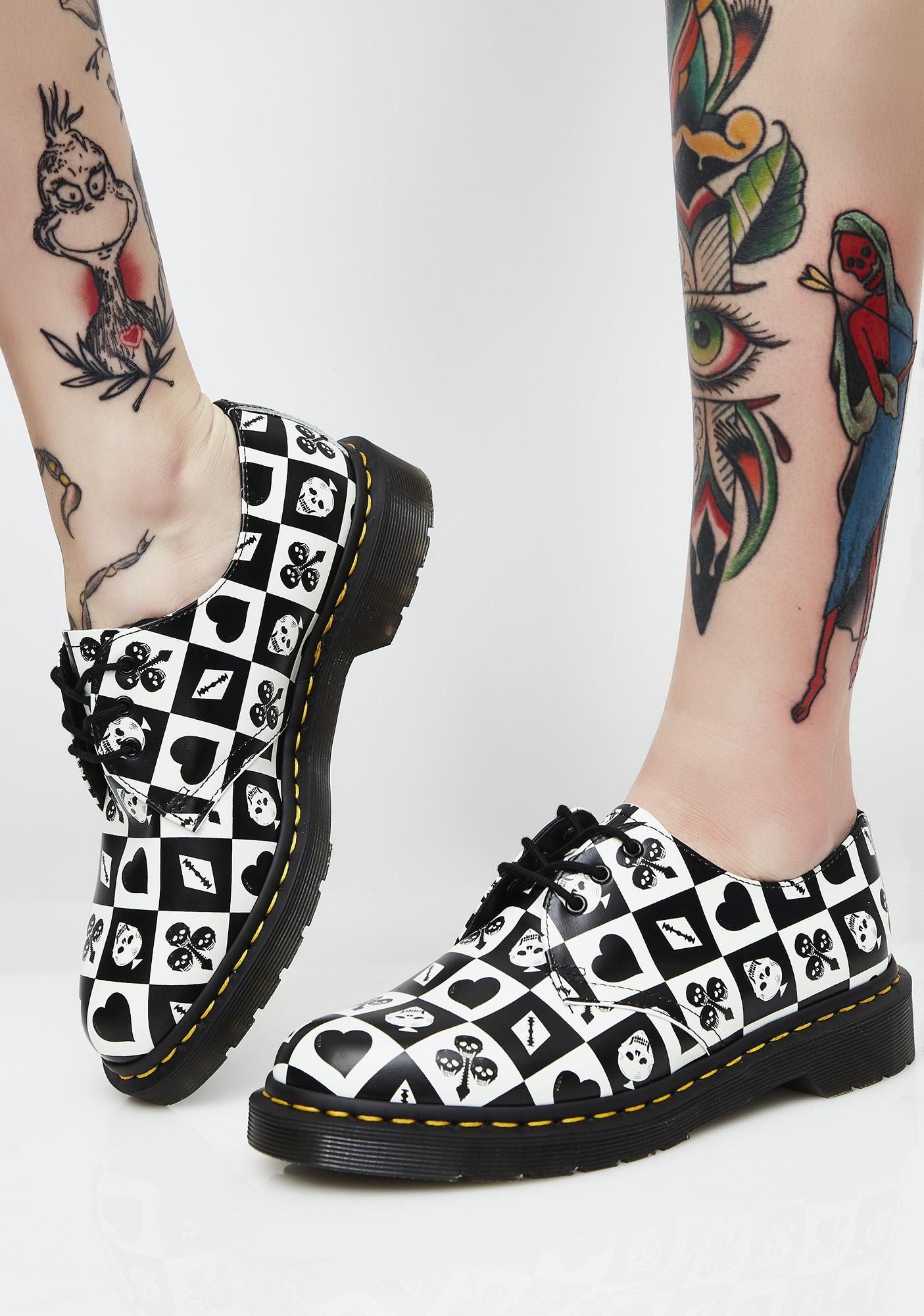 Dr. Martens 1461 Playing Card Flat Shoes