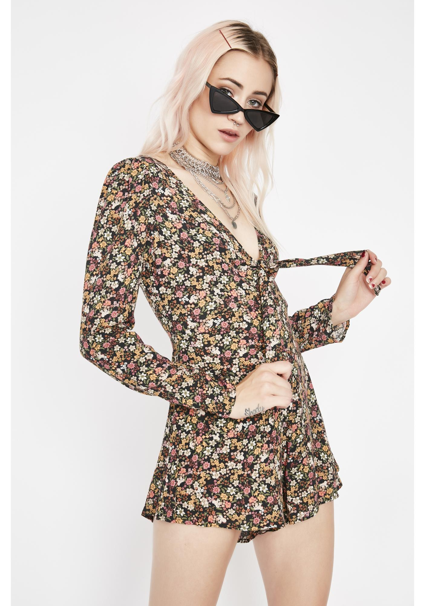 Roll In The Hay Floral Romper
