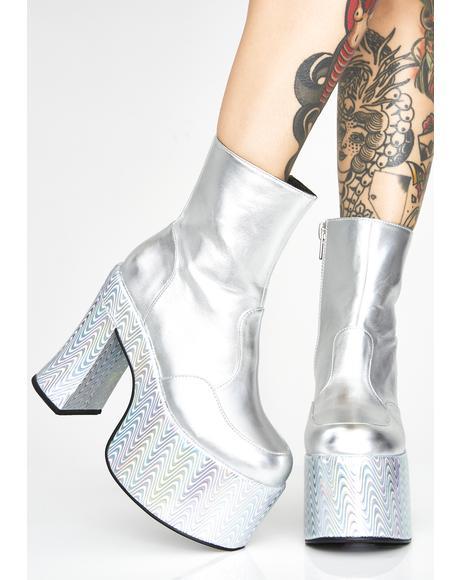 Disco Vortex Platform Boots