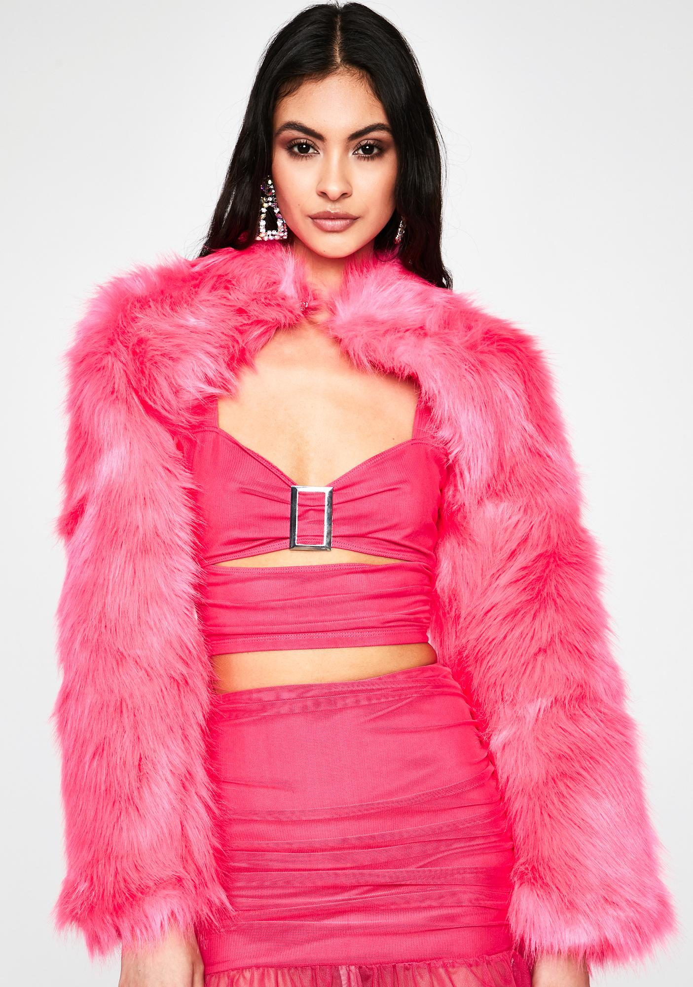 Sweet Boss Babe Faux Fur Shrug