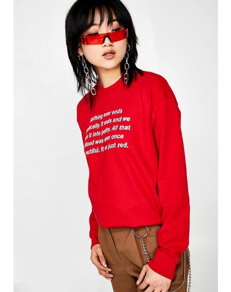 Poetry Sweater