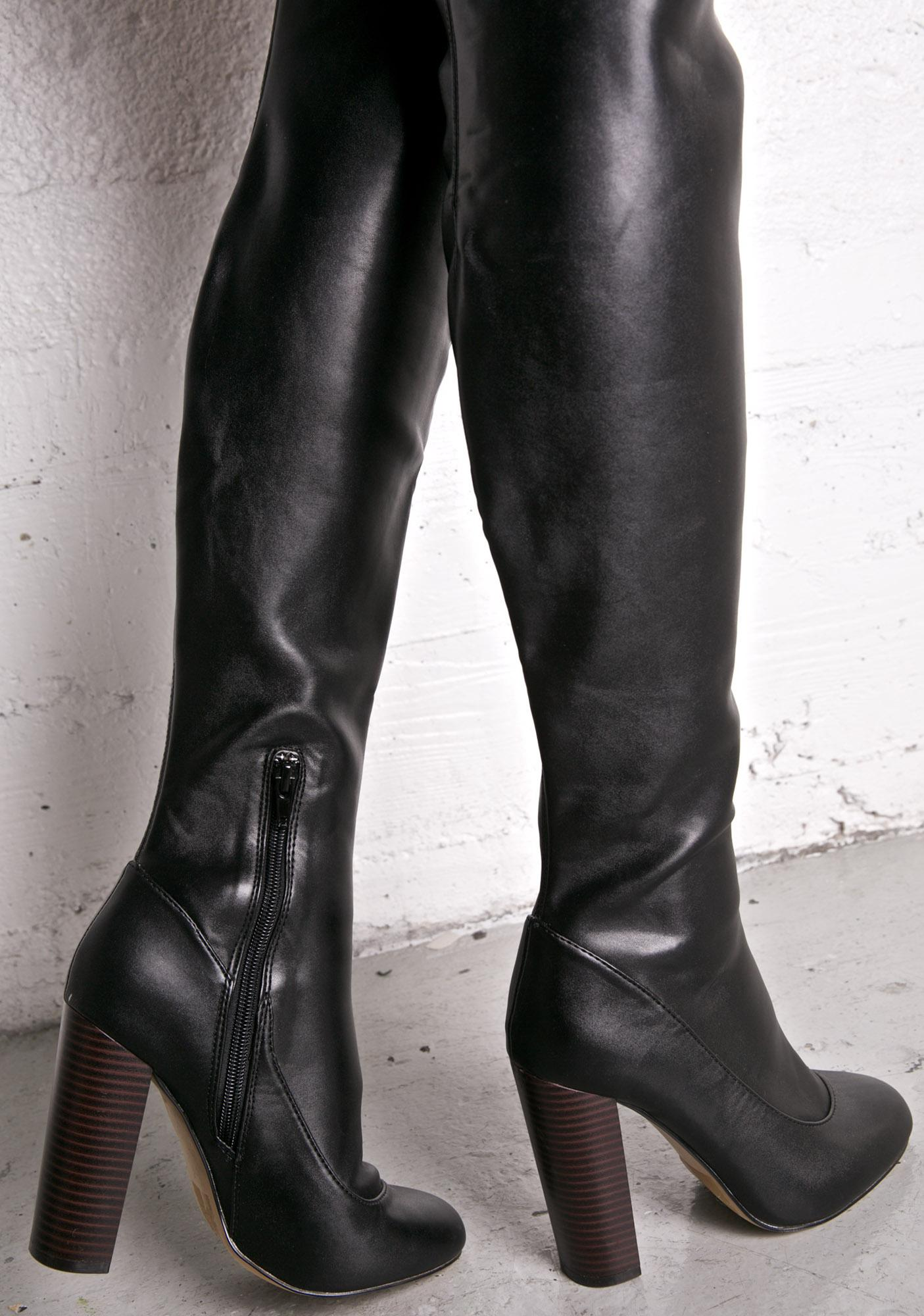 Lust For Life Chelsea Thigh-High Boots