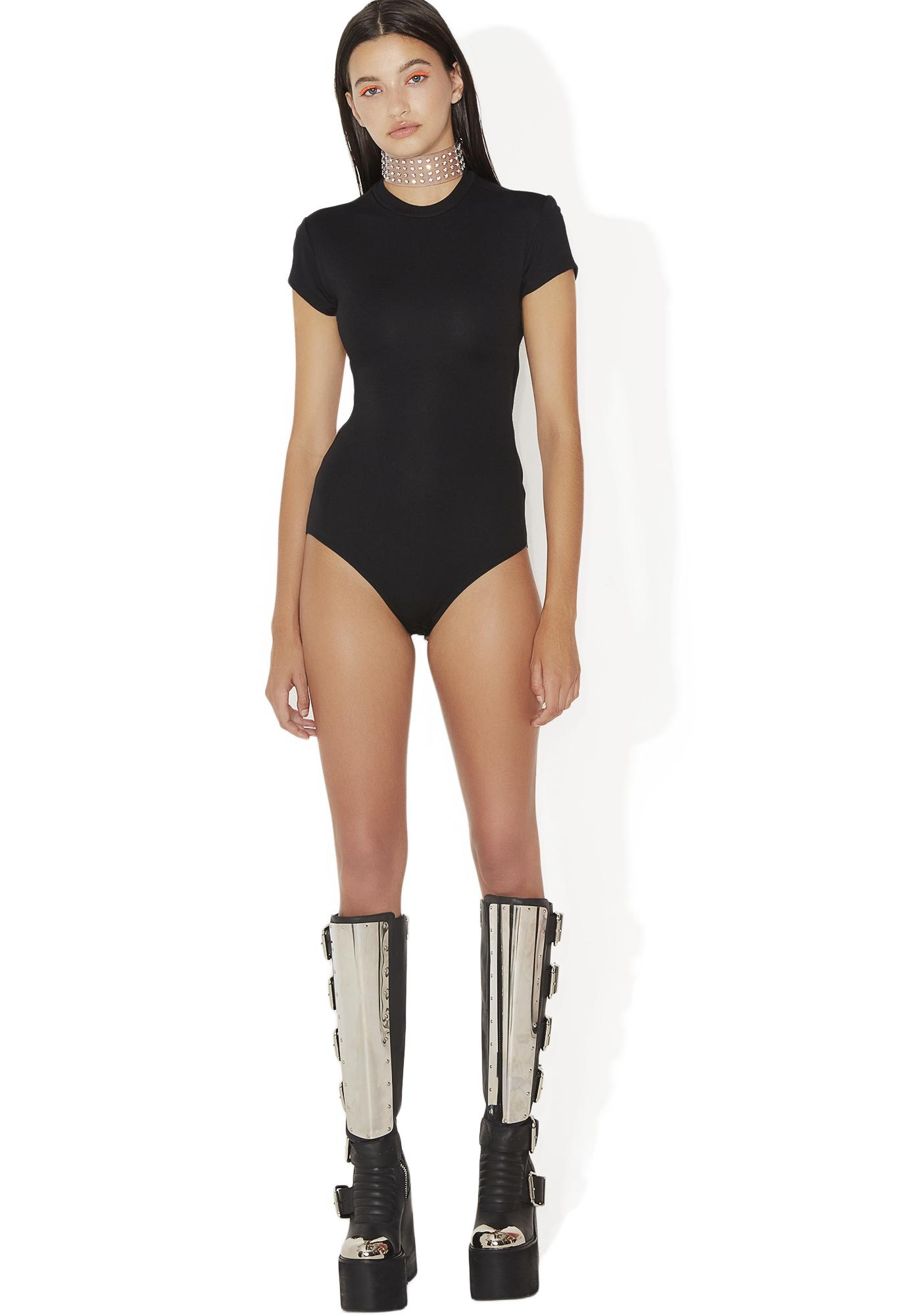 Kiki Riki Fatal Blow Lace-Up Bodysuit