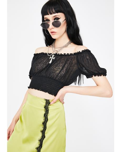 Mellow Mesh Crop Top